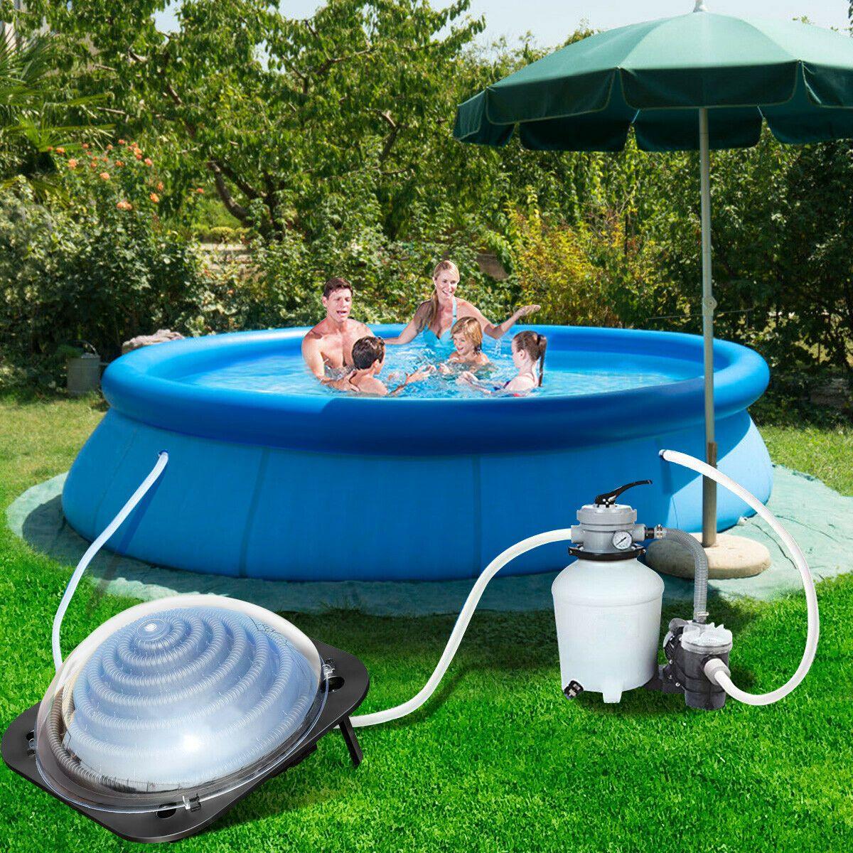 Solar Water Heater Inground Above Ground Swimming Pool Water Heater Black Pools Swimming Pools Solar Pool Heater Cool Swimming Pools