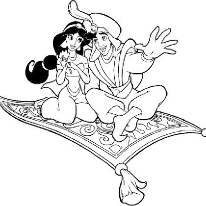 Coloriage princesse jasmine et aladdin fly tattoos coloriage princesse coloriage jasmine et - Dessin a imprimer aladin ...