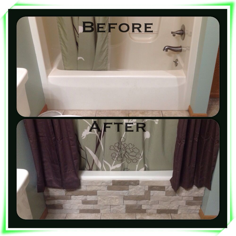 I used airstone from lowes on my tub and easy cheap for Easy bathroom remodel
