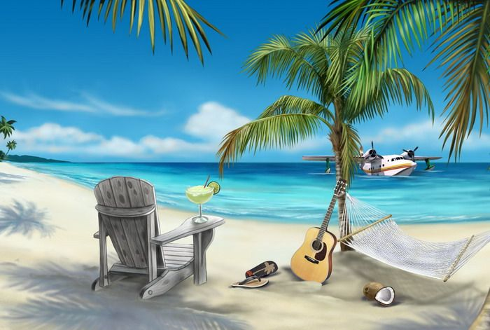 3d beach wall mural interior - Google Search | Projects to Try ...