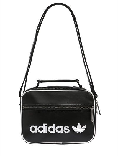 7d8f0600d405 ADIDAS ORIGINALS Mini Airliner Vintage Faux Leather Bag