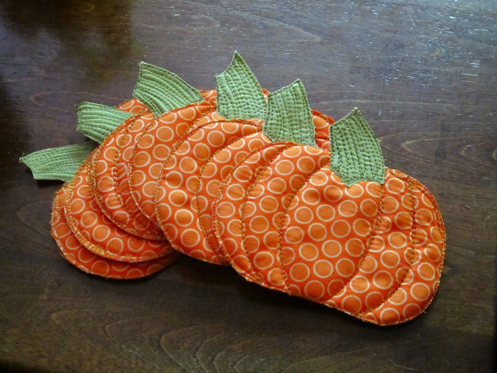 Pumpkin coasters from a brandie creation patchwork pinterest
