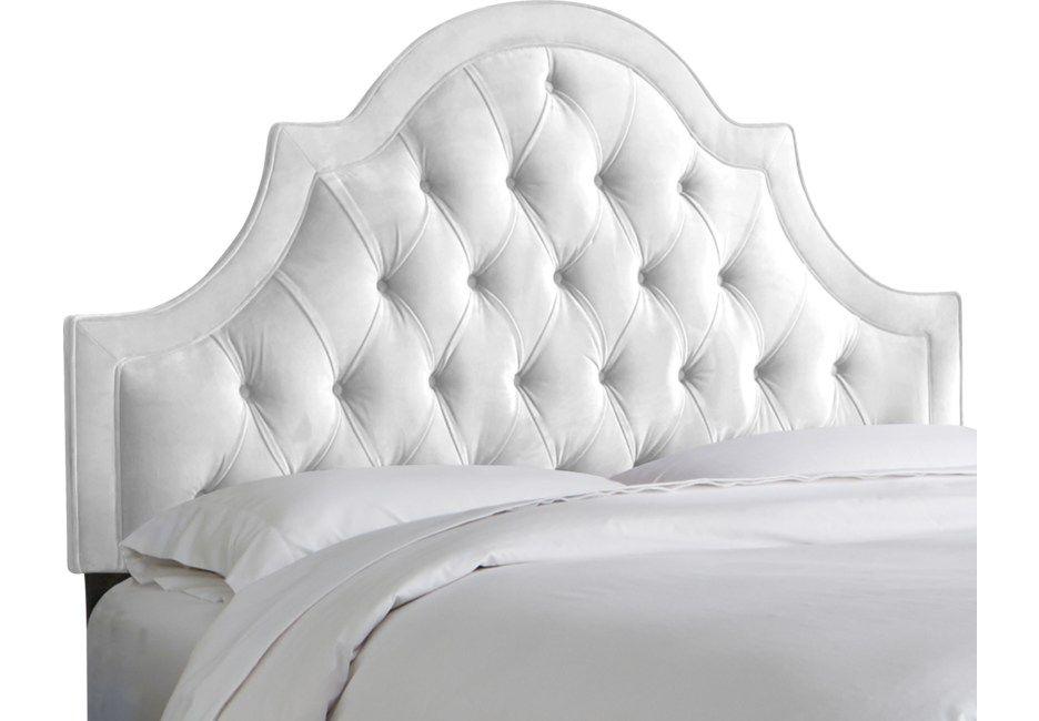 Jenessa White Queen Upholstered Headboard In 2019 Velvet