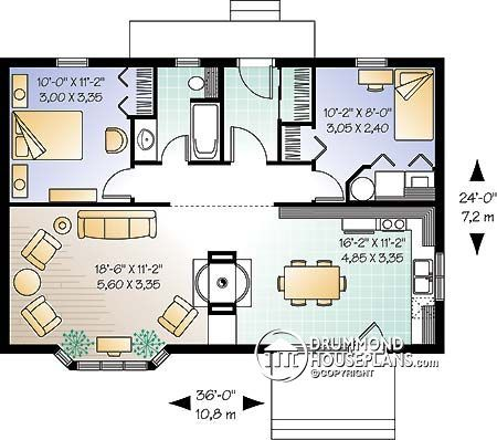 House Plan W2923 Detail From Drummondhouseplans Com Tiny House Plans Cottage Style House Plans Cabin House Plans
