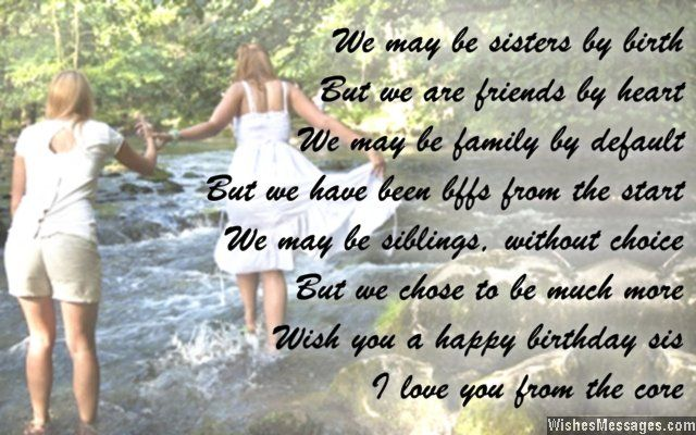Birthday Poems For Sisters Birthday Wishes For Sister Sister Birthday Quotes Wishes For Sister