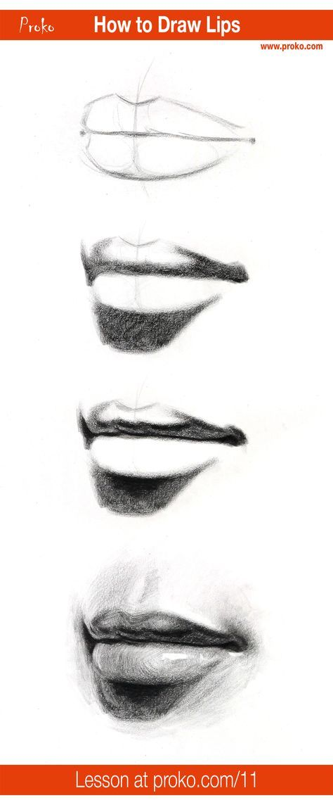 Learn how to draw realistic lips follow along with this drawing instruction at proko