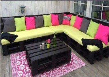 Valérie Damidot adopte le salon de jardin en palettes ! | Palette ...