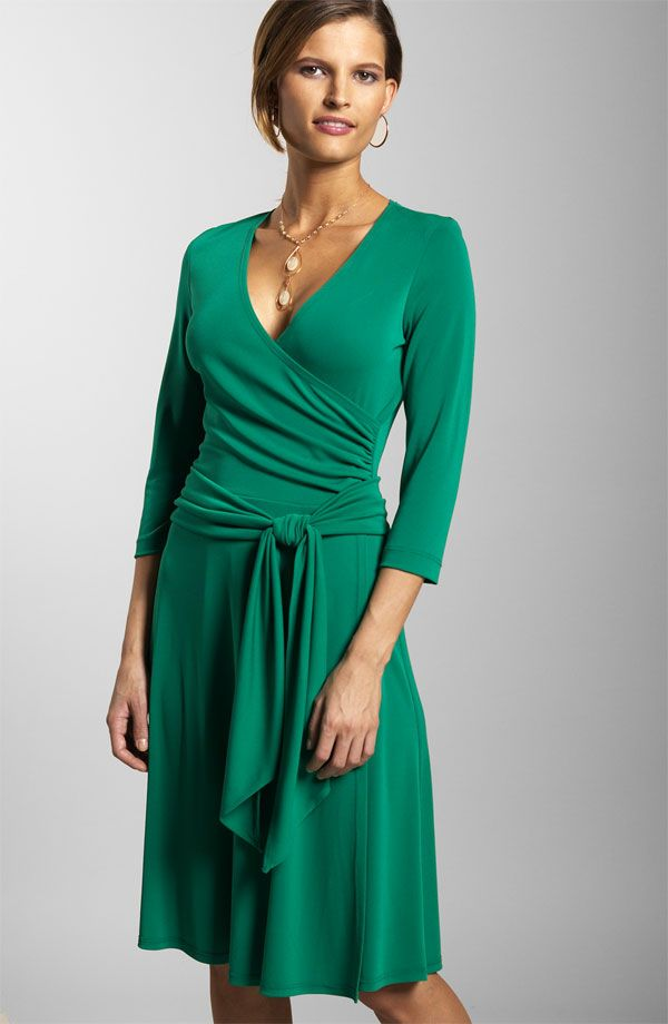 beautiful color and such a flattering dress! Everyone should have ...