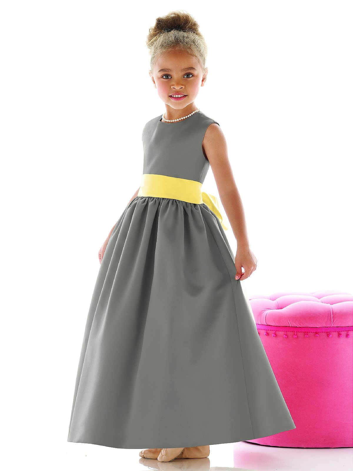 Flower Girl Dress Fl4021 Flower Girl Dresses Girls Dresses And Gray