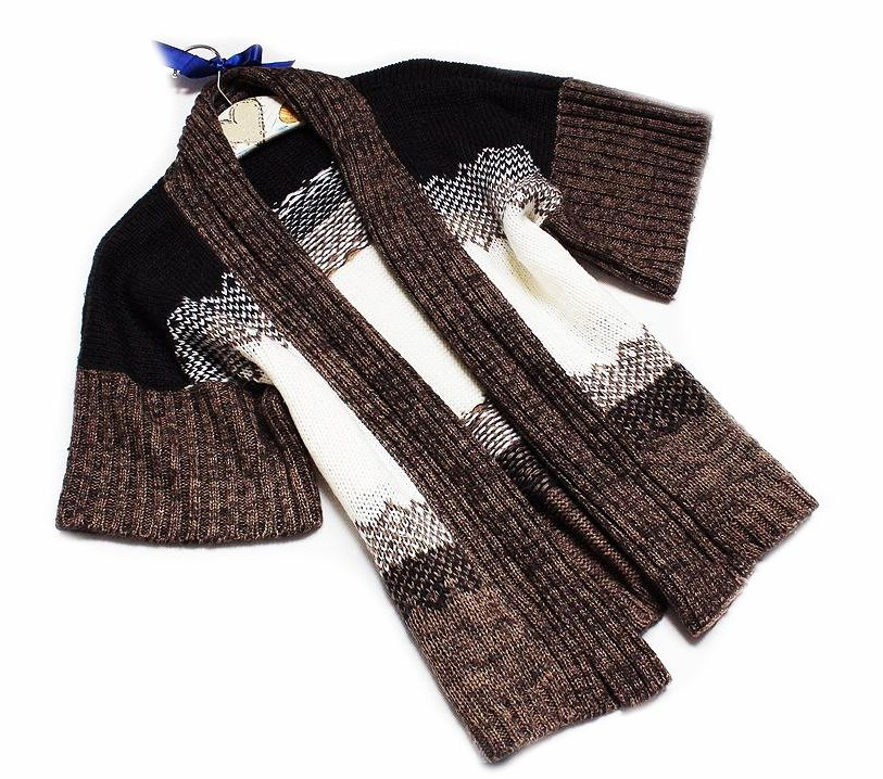Atmosphere Piekny Cieply Sweter Blezer 44 46 6920904952 Oficjalne Archiwum Allegro Knitted Scarf Fashion Knitted