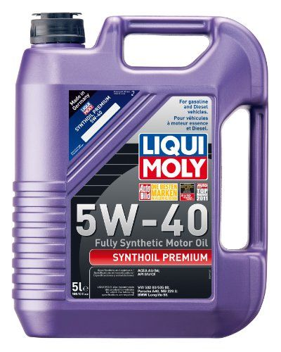 69633eee7f4c7 Liqui Moly 2041 Premium 5W-40 Synthetic Motor Oil - 5 Liter Jug ...