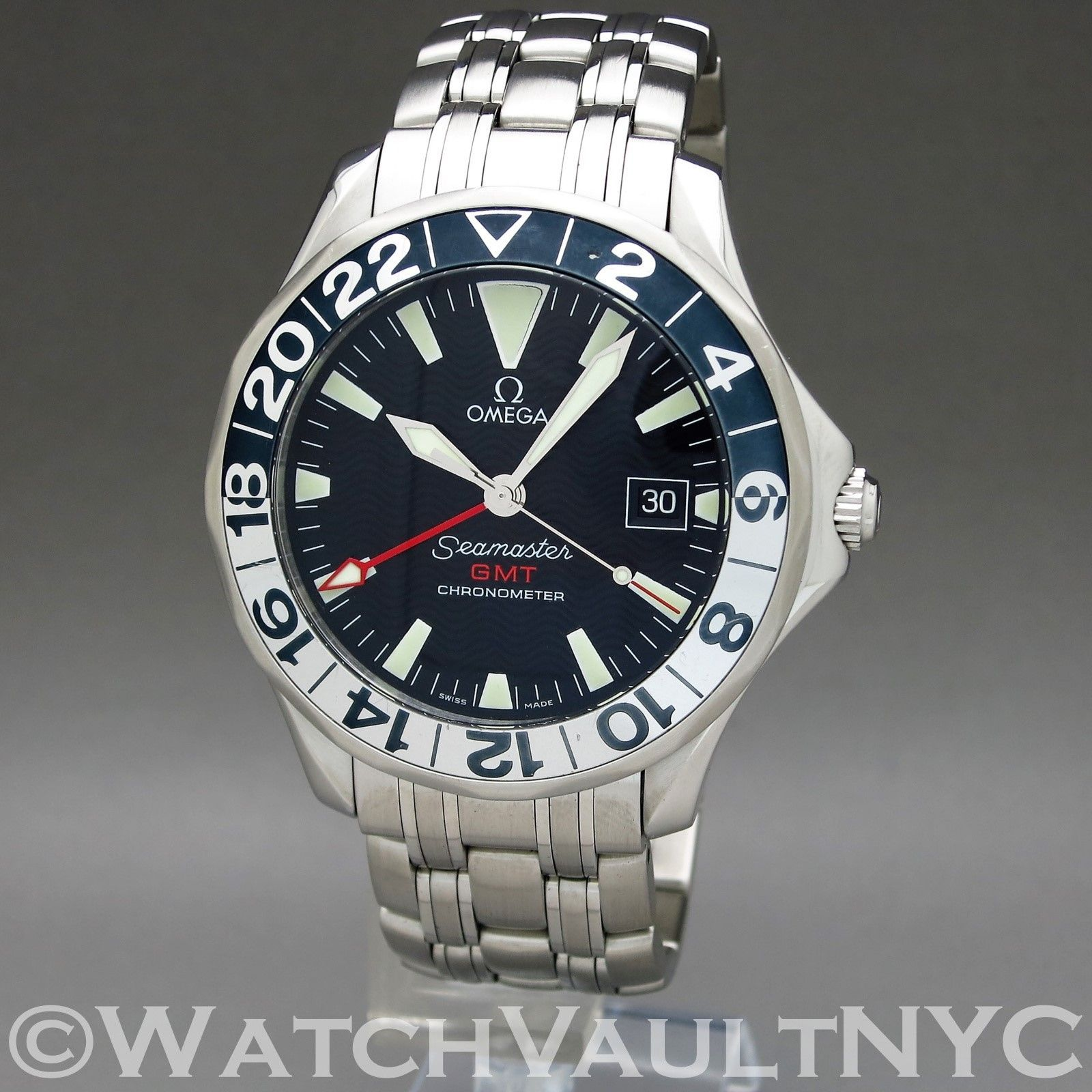 Omega Seamaster Professional 300m Gmt 50th Anniversary 2534 Omega Omega Seamaster Quartz Omega Watches Seamaster