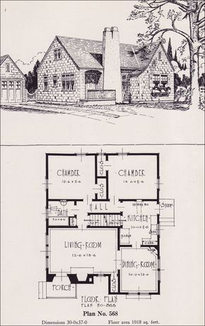 1926 Portland Homes Universal Plan Services No 568 Craftsman Style House Plans House Plans Small English Cottage