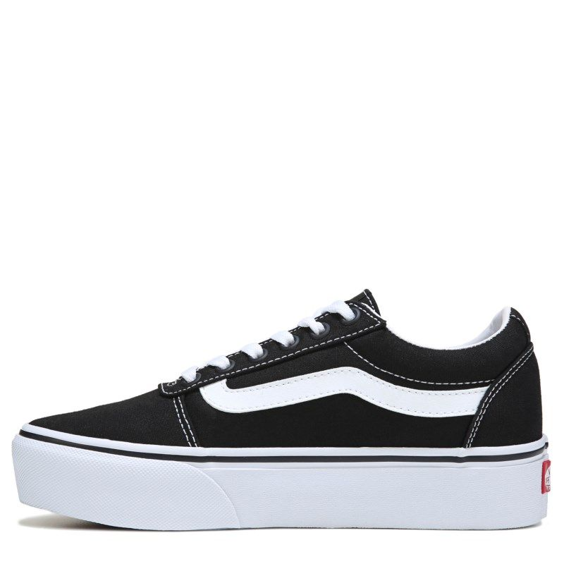 b0ce7e7817 Vans Women s Ward Platform Skate Shoes (Black White)