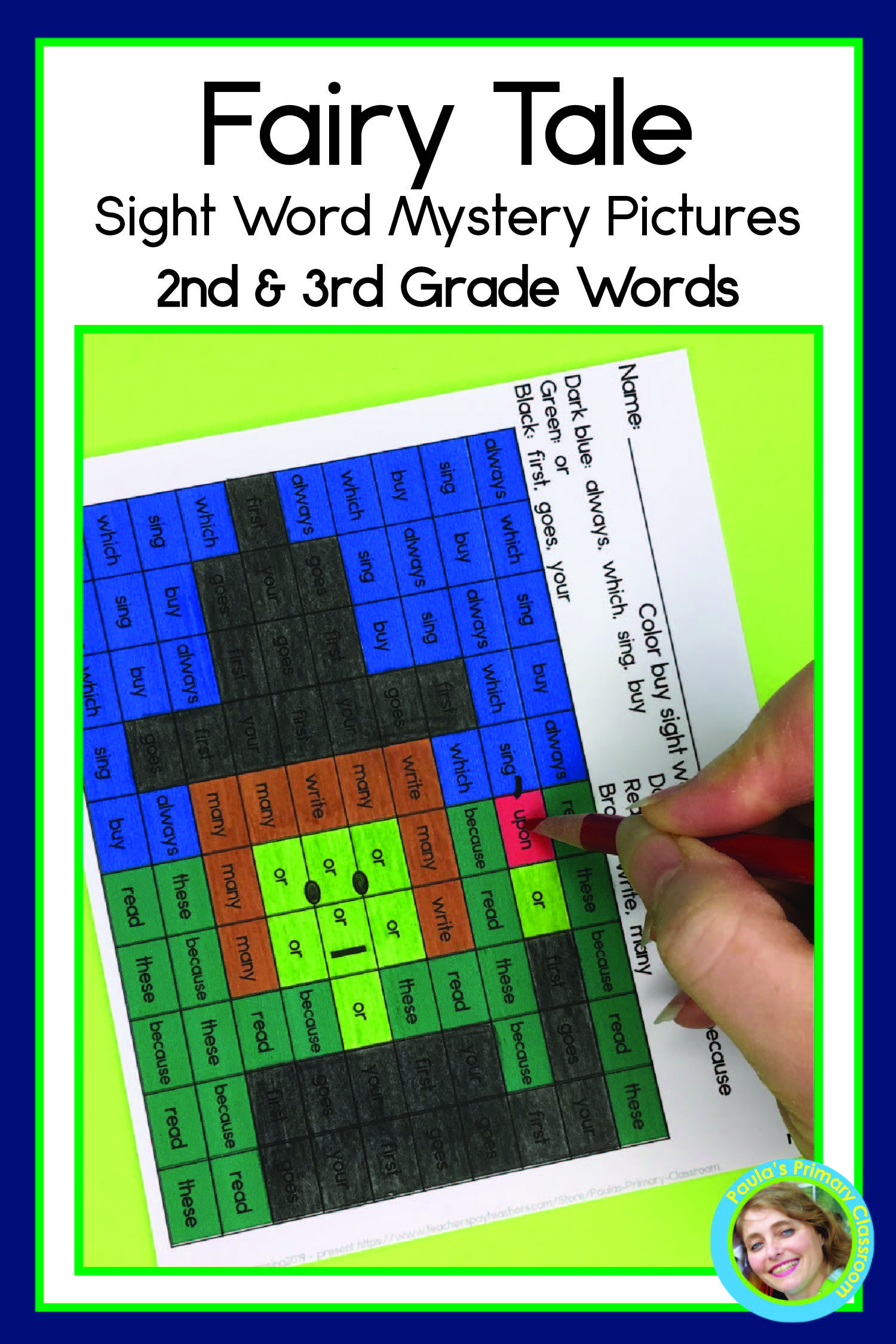 Fairy Tale Sight Word Mystery Pictures 2nd And 3rd Grade