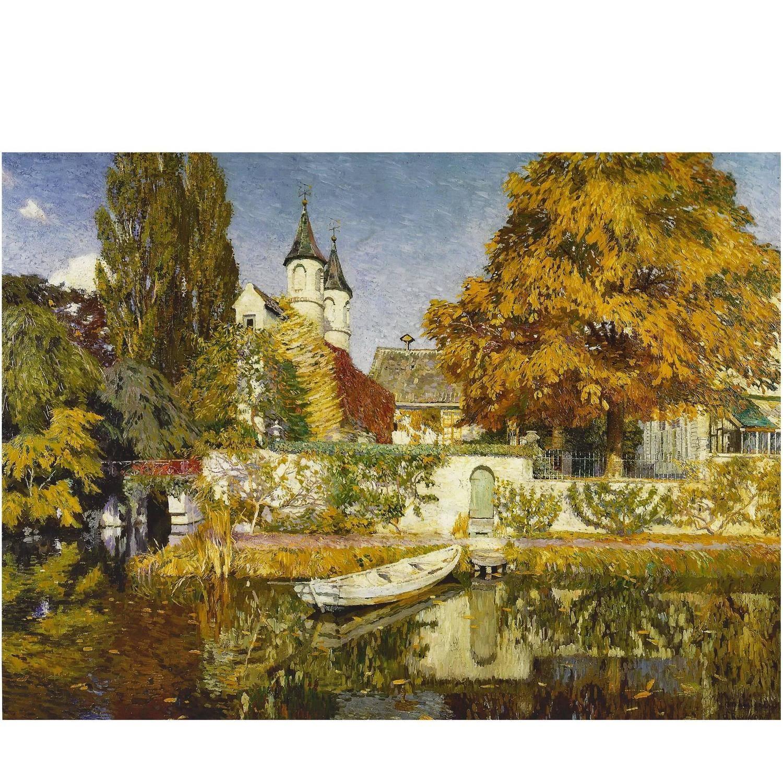 Castle Ryvissche in Zwijnaarde Painting by Maurice Sijs | Castles
