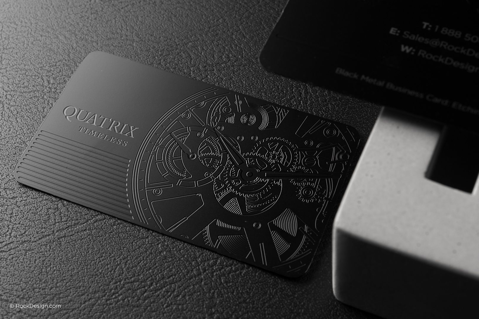 Elegant professional black metal business card quatrix elegant professional black metal business card quatrix rockdesign luxury business card printing reheart Image collections
