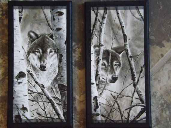 Wolves in the Winter wolf theme lodge style by ozarkmtnhomestead