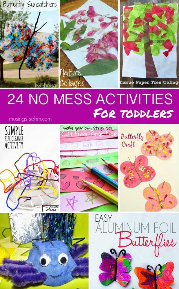 24 No Mess Activities for Toddlers