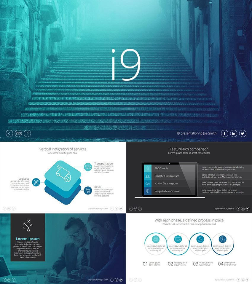 I9 Cool Ppt Presentation Template Design Web Page Design