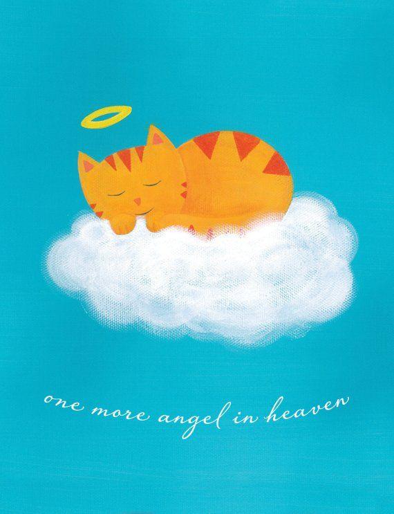 Cat Sympathy Card - Pet Sympathy Card - Cat Angel Sympathy Gift Pet Sympathy Cards,