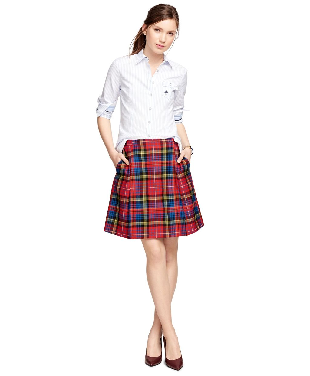 1e3a40b66 Plaid Skirt Make You Look Casual Style And Fit To Hang Out : Plaid Skirt  Outfit