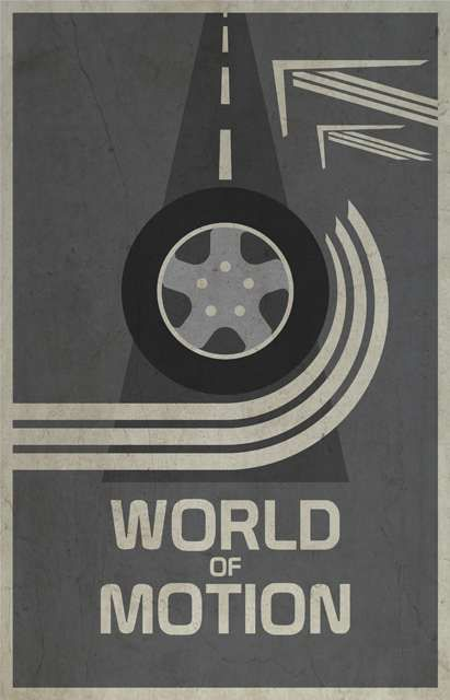 World of Motion - Walt Disney s EPCOT retro poster (1983) Tématické Disney  Parky 14109ccec46