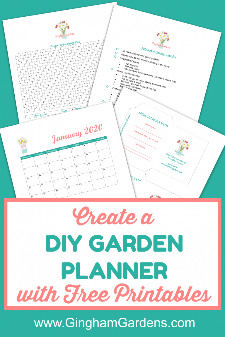 Diy Garden Journal And Planner Gingham Gardens In 2020 Gardening Journal Printables Garden Journal Garden Planner