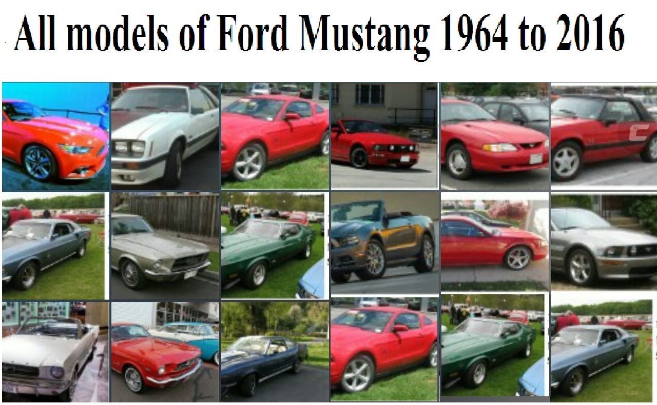 All Models Of Ford Mustang Since To Vehicles - All ford vehicles