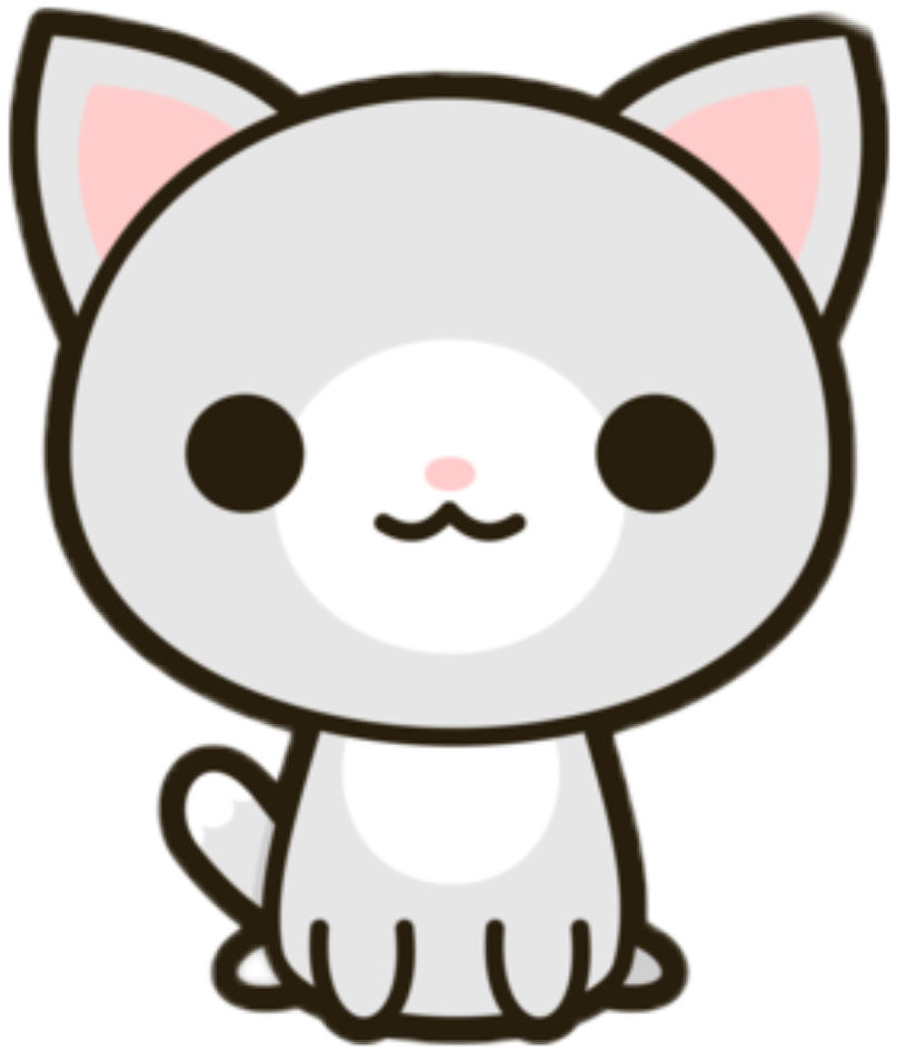 Kawaii Cat Png 738 White Cat Stickers Kawaii Cat Drawing Kawaii Cat