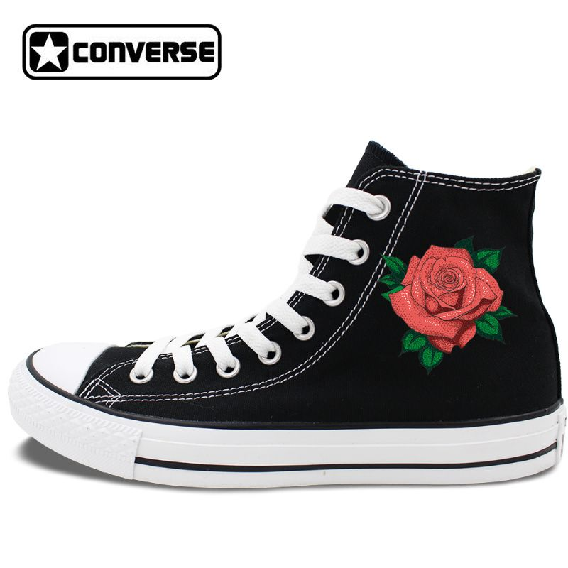Womens Skateboarding Shoes Canvas Flower Clipart Sport Sneaker