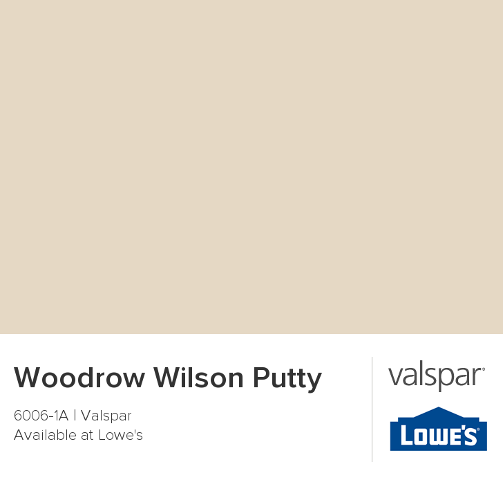 Valspar Paint Color Chip Woodrow Wilson Putty Valspar Paint Colors Valspar Paint Bathroom Paint Colors