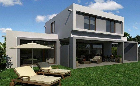 Modelo de casa minimalista de dos plantas planos de for Foto casa minimalista
