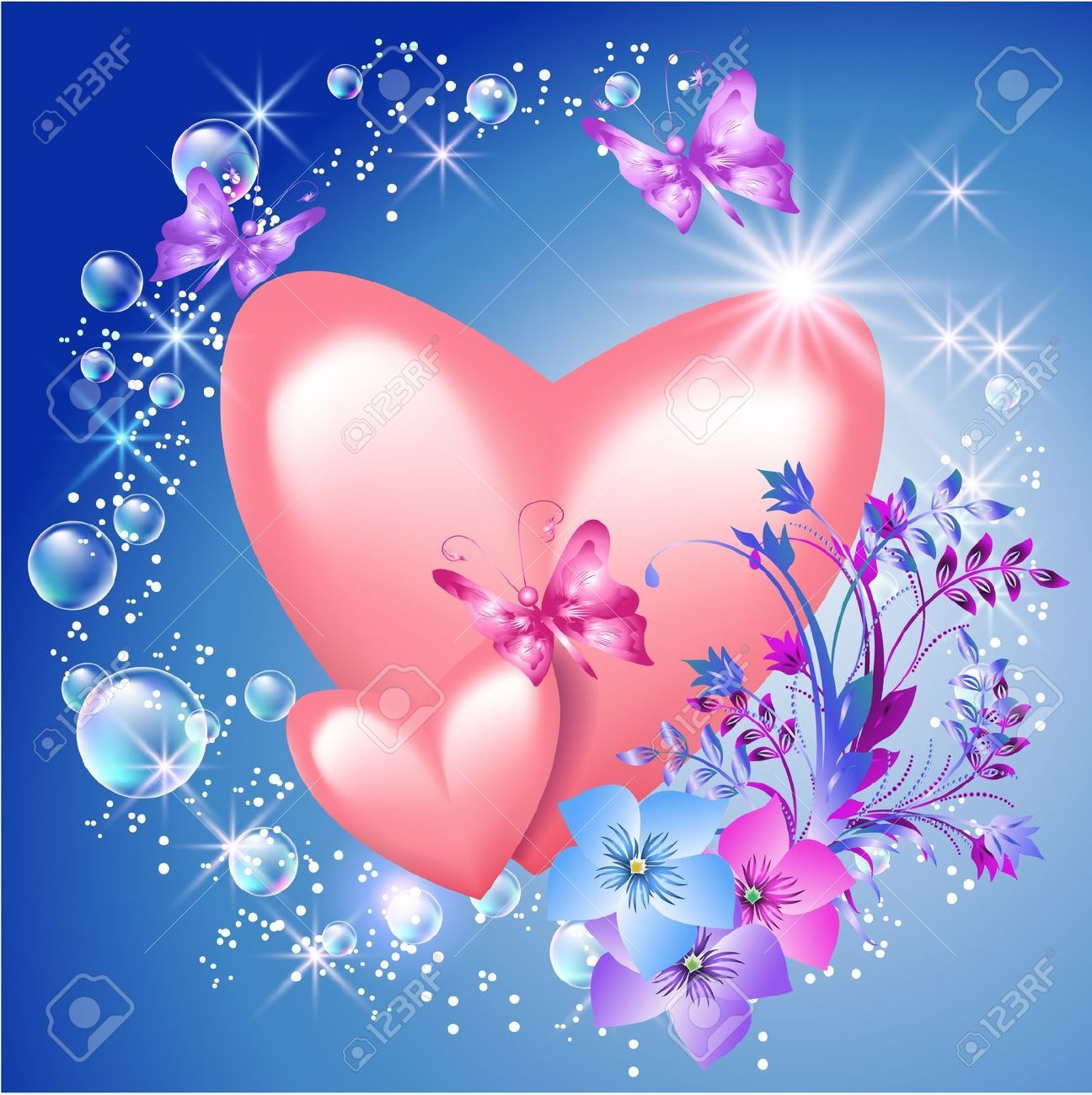 Butterfly And Flower Wall Stickers Hearts And Flowers Background Google Search 1 Hearts