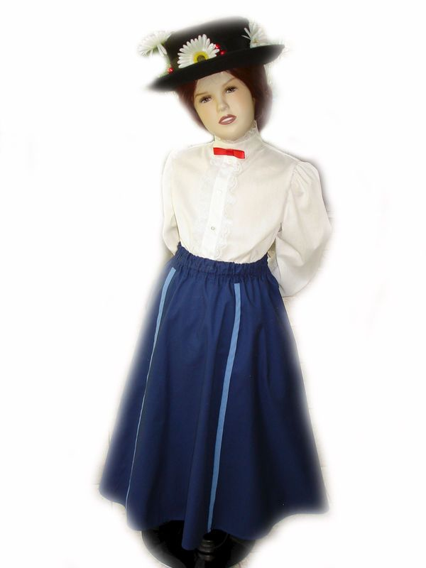 Custom Boutique Halloween Mary Poppins Nanny Girls Size