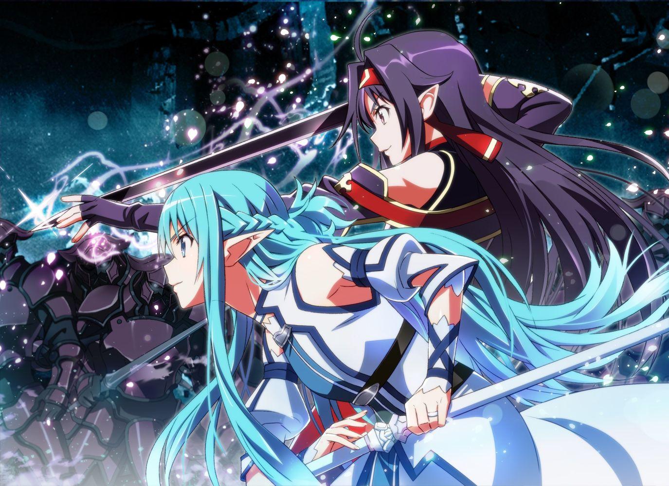 Anime Sword Art Online II Yuuki Konno Asuna Elf Wallpaper