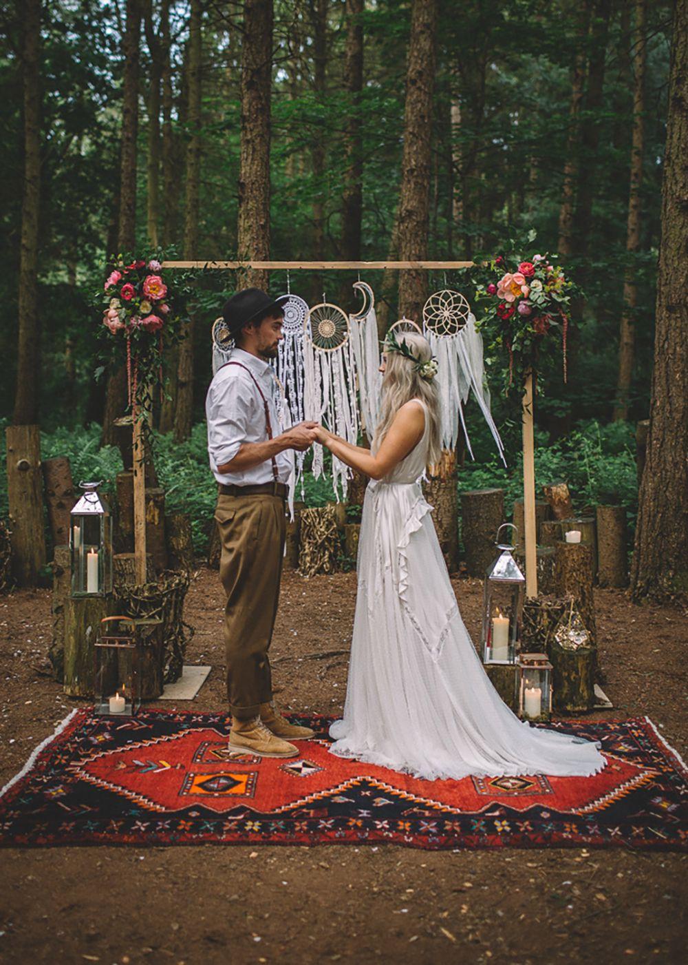 Free Spirited Woodland Bohemian Wedding Ideas at Camp Katur | Whimsical Wonderland Weddings