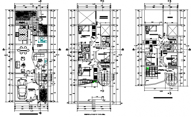 Autocad File Of Two Bedroom G 1 House Plan Download The Autocad Drawing File Cadbull In 2020 Family House Colorful Furniture Stair Detail