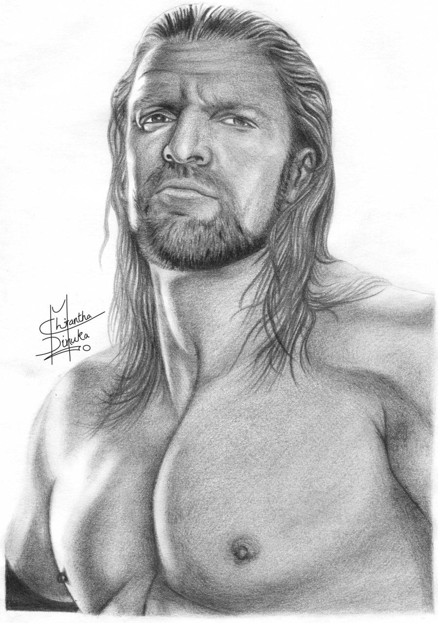 Sketches of someone drawing art drawings people triple h pencil drawing this is another one of my