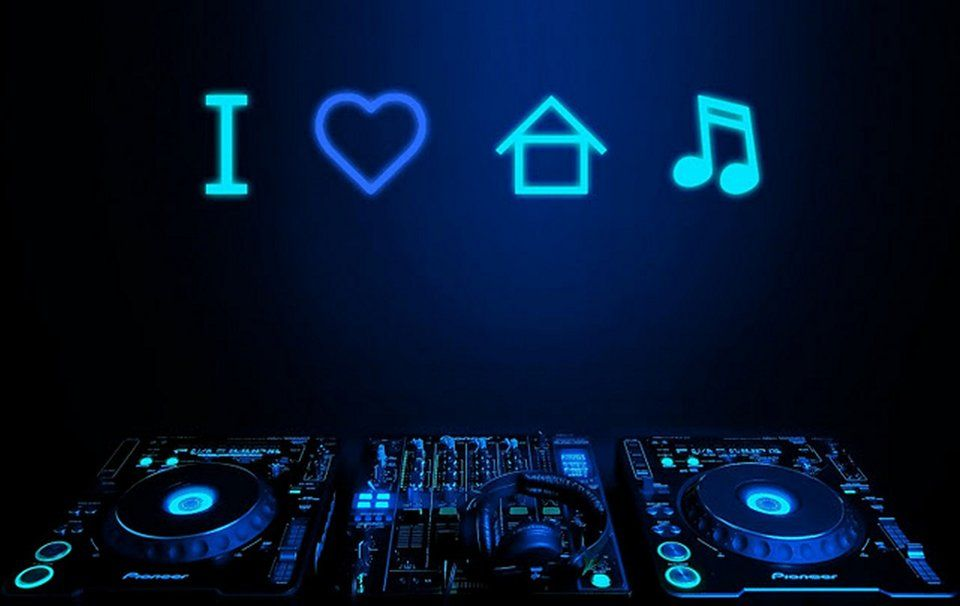 I Love House Music Wektor Edm Music House Music Music