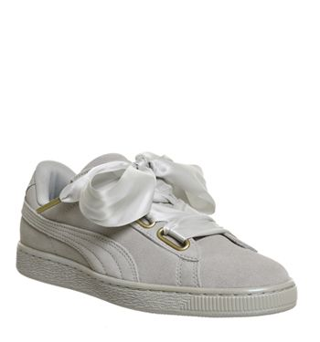 huge discount 48c33 d8545 Puma, Suede Heart, Grey Violet Satin | Fashion in 2019 ...