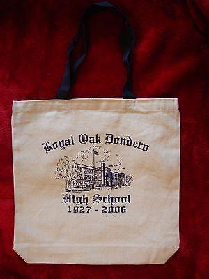 Dondero High School, Royal Oak MI 1927-2006 Canvas Bag NEW Michigan