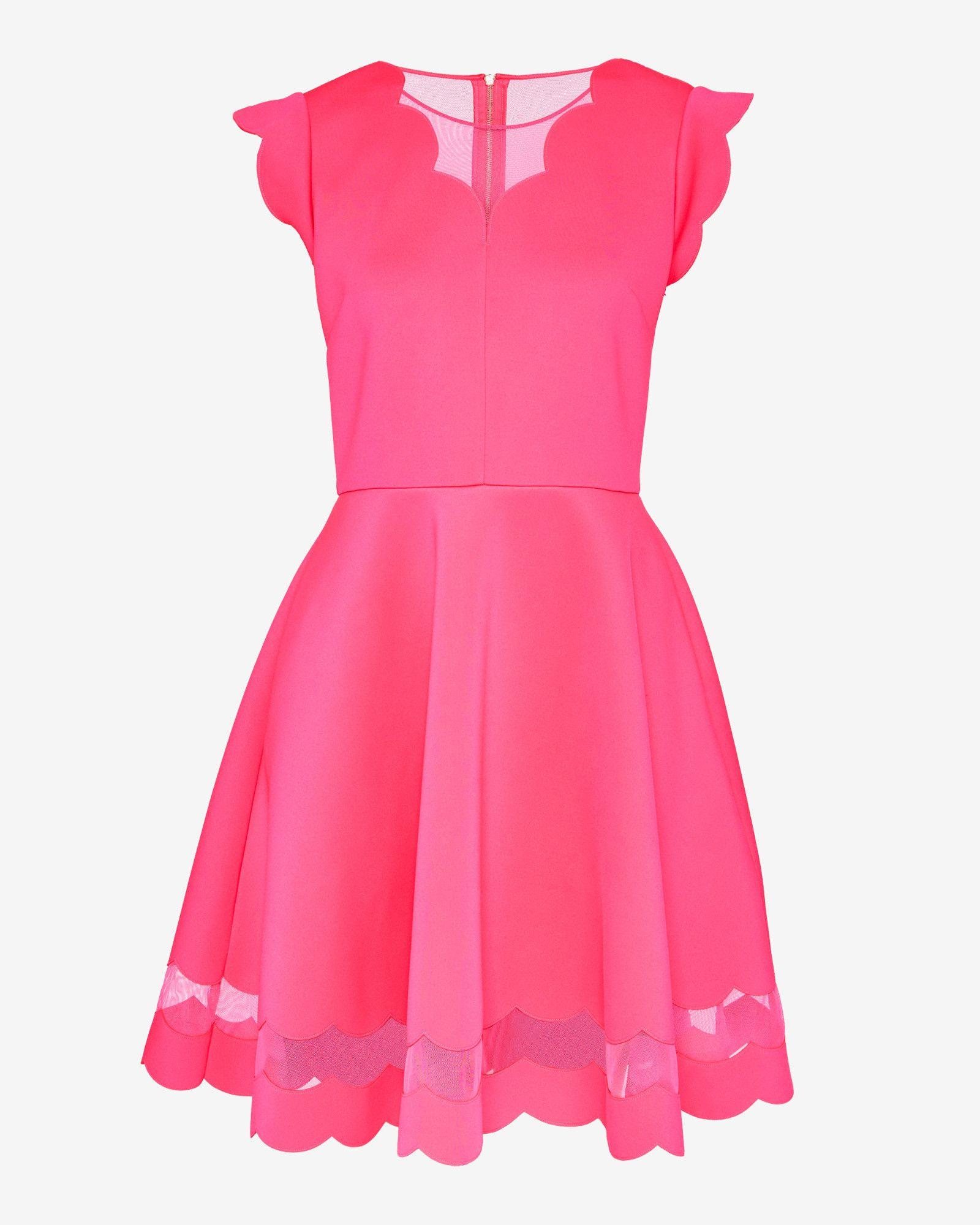 Skaterkleid mit Wellendetails   Ted Baker   Lovely Dresses   Pinterest