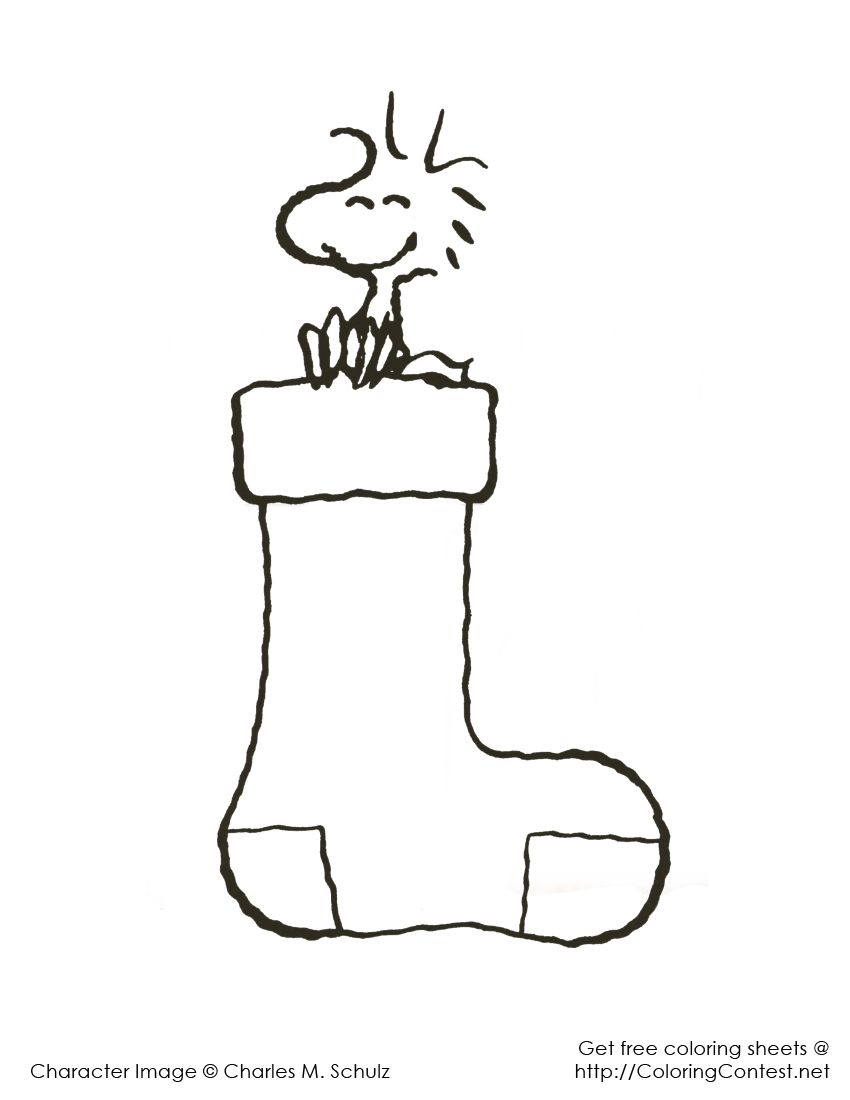 Snoopy christmas coloring pages | スヌーピーモノトーン | Pinterest ...