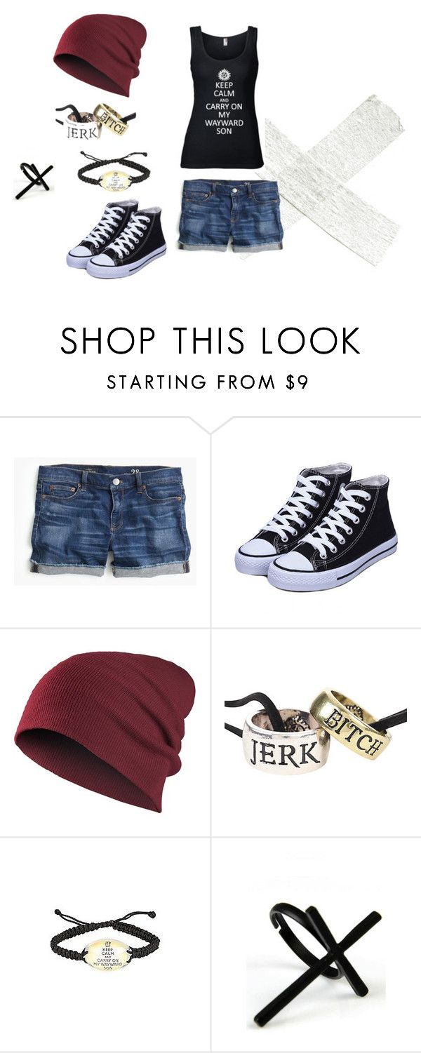 """""""My Besties 1/4"""" by shadowwolf8 on Polyvore featuring J.Crew and Emi Jewellery"""