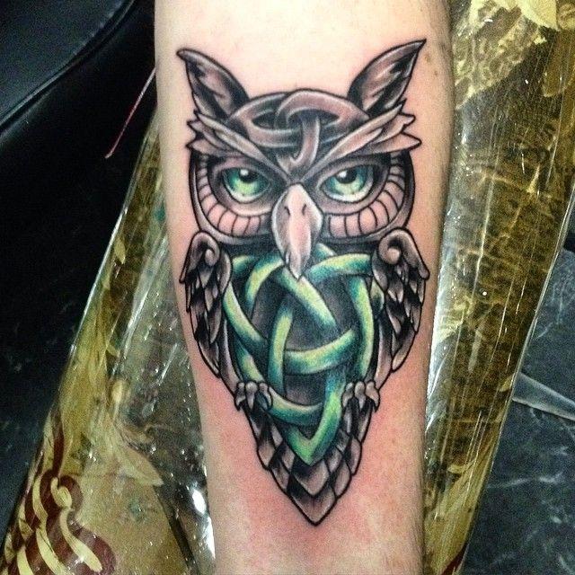 Celtic Owl Tattoo Owl Tattoo Small Owl Tattoo Sleeve Celtic Owl Tattoo