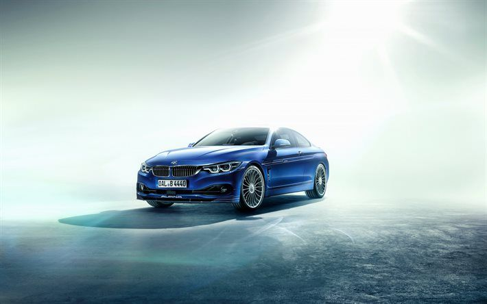 Download Wallpapers Bmw 4 Coupe Alpina 2016 Blue Bmw F32 Bmw 4