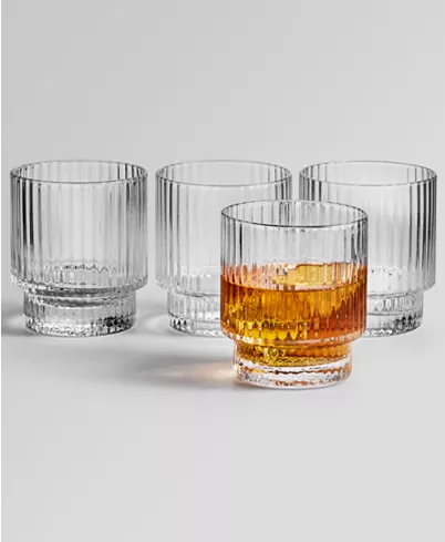 Hotel Collection Fluted Double Old Fashioned Glasses Set Of 4 Created For Macy S Reviews Glassware Dining Macy S In 2020 Glassware Hotel Collection Bar Glassware