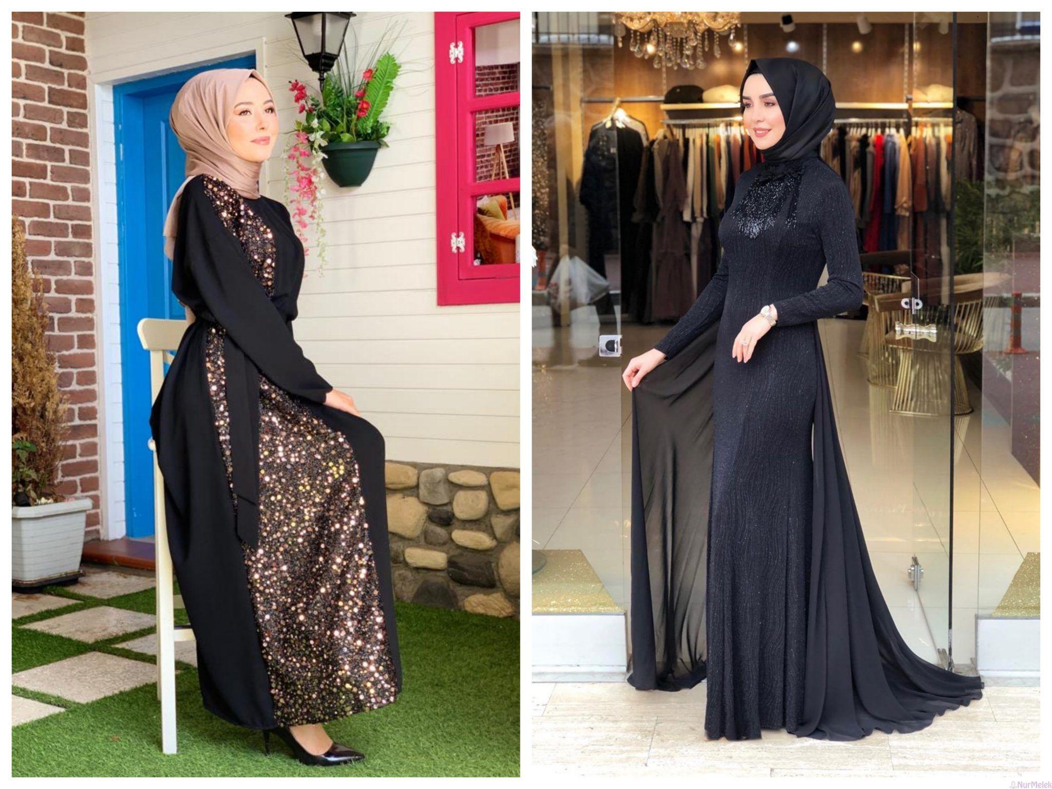 Pariltiyi Sevenler Icin En Guzel 15 Payetli Tesettur Abiye Modeli 2020 Mutevazi Moda Elbise Modelleri Elbise