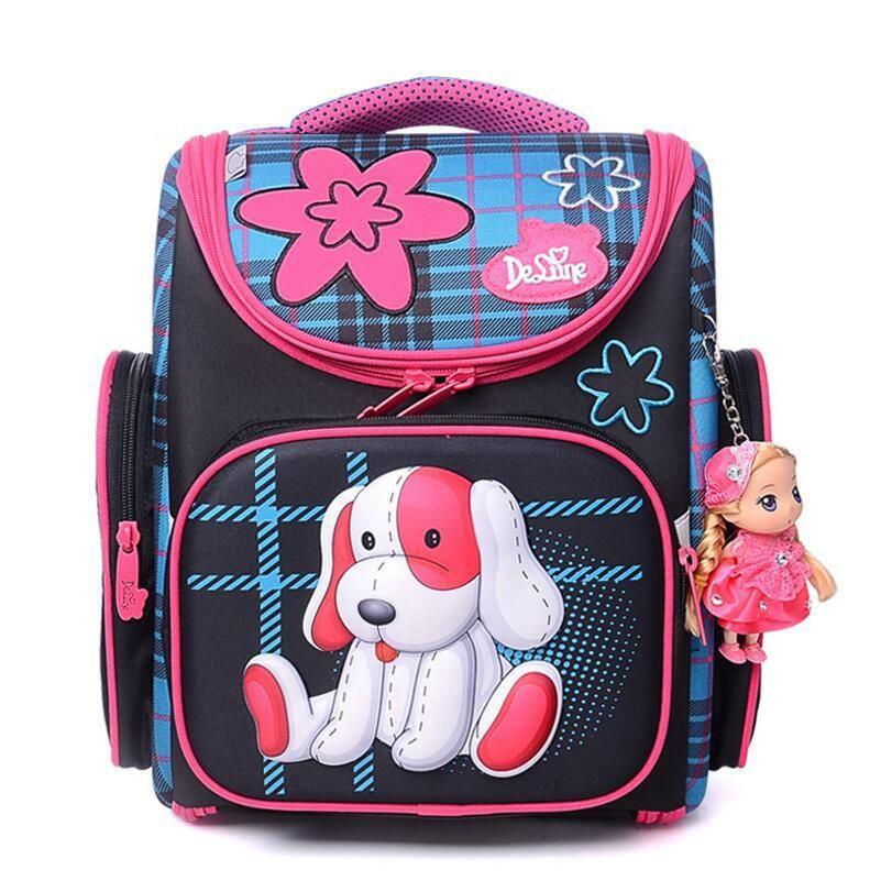 153605a210aa Delune Cartoon School Bags Mochila Infantil New Car Children Orthopedic School  Backpacks for Boys Primary School Bag Grade 1-3. Yesterday s price  US   83.33 ...